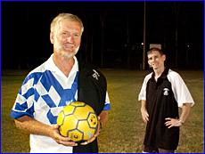 New Central coach Lyle Spyve (left),  with assistant coach Scott Nancarrow.