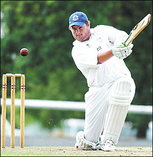 Sawtell skipper Todd Gill at his explosive best in a recent game.
