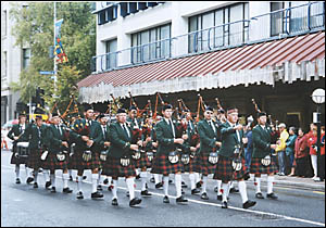 MARCHING ON: The Perth Highland Pipe Band will be in Maclean for the 101st Highland Gathering this weekend.