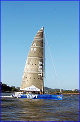 Sean Langman's AAPT is one of the favourites for line honours in the 57th Brisbane to Gladstone yacht race.