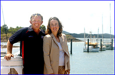Jeff and Janet Paul will line up in their own yacht Immigrant in the Brisbane-Gladstone race.