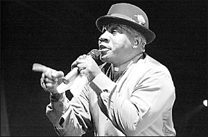 BLUES LEGEND: John Lee Hooker Junior played the blues to an appreciative audience on Saturday night.