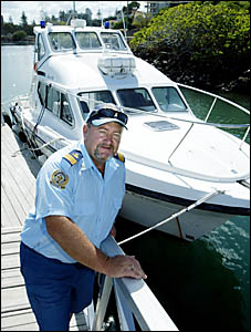 Fishing charter operator Charlie Reynolds has donated his local knowledge to helping the Volunteer Marine Rescue.