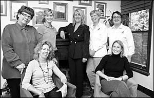 Deborah Kuhn, Susan Contempree, Laura Willmott, Jane Howarth, Julia Atkinson, Trina Schaefer and Melissa Coakes.