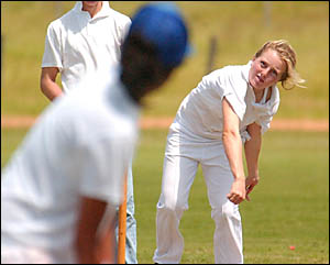 STAR POWER: South Grafton High School all rounder Angela Payne in action for the school earlier this month