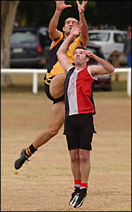 TIGER?S TALE: Action from one of the Grafton Tigers? games last year.