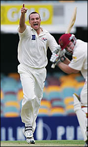 STRONG MAN: Stuart Clark will be  in Grafton today as a guest of local cricketers.