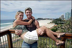 MOTORCYCLE champion Karl Muggeridge shows no damage from last weekend?s Philip Island crash.