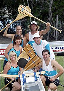 (Clockwise from bottom left) Julie West, Lindy McGuren, Robyn Cetinich, Richard Cetinich, Scott McGuren and Andre West.