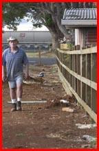 Doug Craig  minus his  palings. Picture: BEV LACEY