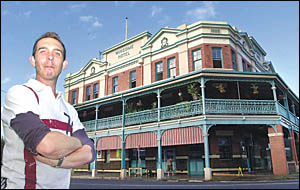 ROYAL TREATMENT: Winsome Hotel co-owner Alex Devantier stands in front of the hotel