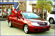 Take a chace to win this Toyota Corolla supplied by Bill Robertson Toyota