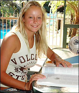 Australian under-19 soccer representative Jenna Tristram will be able to relax this year after a hectic schedule in 2004.