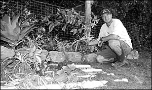 Gerrit Ter Hedde quit his previous position ? cutting grass at the edge of the Pacific Highway ? after only one day.