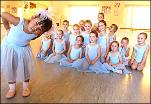 Babies Dance Class at the Adele Lewis School of Dance in Maclean.