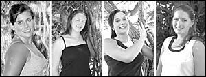 Miss Showgirl entrants Francesca Bentley, 17; Ashley Nicholls, 16; Kylie Bullivant, 17; Alira Capararo, 20.