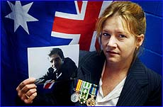 Julie Kellow will join veterans in Melbourne today when she represents her father Anthony Lisle.
