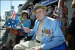 ALEX Brown (pictured) has not missed an Anzac Day since 1946