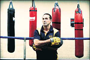 GLOVES OFF: Justin Rowsell at Sydney University boxing gym.Picture: SAM RUTTYN, The Daily Telegraph