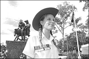 A proud Australian . . . Natalie Vercoe will walk the Kokoda Trail in New Guinea later this year.