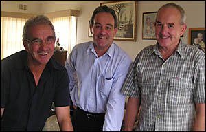 From left the Lower Clarence footballing brothers John, Kevin and Paul Plummer.