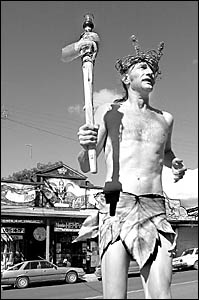 Chibo Mertineit, from Nimbin, will carry the torch to officially open the Mardi Grass.