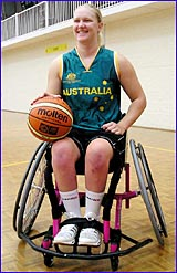 Former Gladstone resident Naomi Schouten is now a member of the Australian Gliders wheelchair basketball squad.