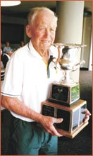 Bill Rogers with the Lurie World Cup. Picture: supplied