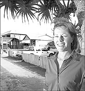 GOOD BOOM: Lennox Head Newsagency employee Sandra Gordon feels development in Lennox Head is a positive trend for the area.