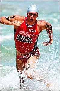 KYHURST:Entrant for tomorrow?s Byron Bay Ocean Swim Classic.