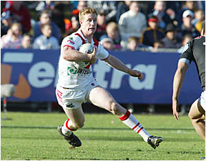 FROM LITTLE OAKES: Ben Creagh on the attack for the Dragons in the NRL.