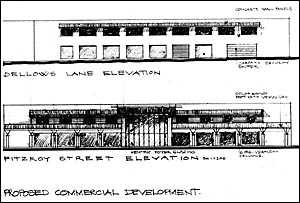The Fitzroy Street elevation of the proposed redevelopment.