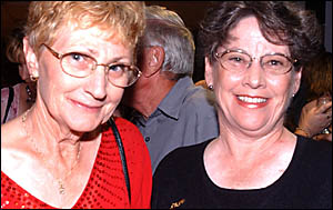 ALL SMILES: South Grafton?s Fran Marshall and Gillian McLachlan had a happy time at the auction.