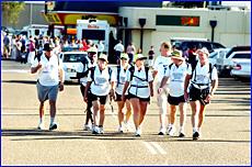 Walkers Ian Brown (from left), Ben Ghee, Jo Ryan, Kellie Shields, Kim Turner,Chris Cummins, Russell Thomas  and Chris Trevor.