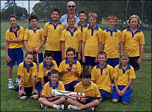 WINNING TEAM: South Grafton Primary team: Back: Mr Skinner (coach) Christian Bowden-Betts, Jeremy Cooper, Rhys Nelson, Joel Bro