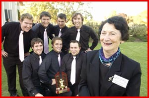 Ex-Concordia College students and Anne Thomas.  Picture: NEVILLE MADSEN