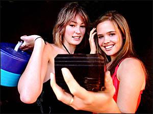 KEEN: Preparing for Model For Life heats in Grafton are Tara McAuley, 17, and Sarah Noakes, 16, of Grafton.Photo: ADAM HOURIGA