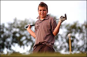 RISINGSTAR:Thirteen-year-old Ben Austin enjoys his golf.