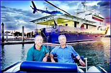Gladstone resident Dennis Toy helped Aussie icon Dick Smith with the design of his new $6 million boat Ulysses Blue Gladstone.