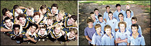 KYOGLE HIGH: Front, from left, Johnny Walker, Ryan Joingco, Lewis Currie, Ian Marquis, and Josh Woolsley. Middle row, Cameron G