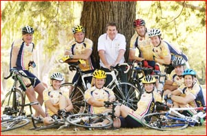 These Toowoomba cyclists are heading to Europe this week . Picture: KEVIN FARMER