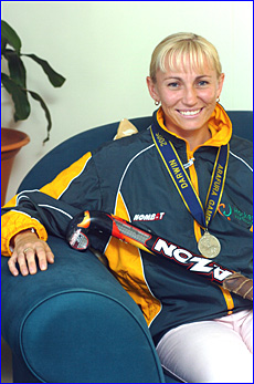 Susan Aitkenhead-Brown was part of the Australian Country hockey team that won a silver medal at the Arafure Games in Darwin.