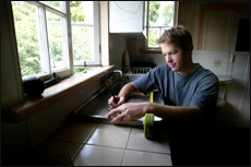 DIY BUZZ: New home owner Michael Conaghan.