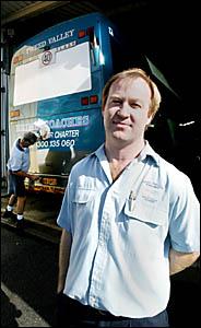COACH operator Terry Brims, with driver Rob McCallum.