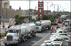 Truck drivers from all over the state were represented at Grafton?s Weekend of Trucking