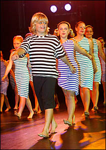 MURWILLUMBAH East Public School student Levi Worden (front) leads the troupe perform- ing