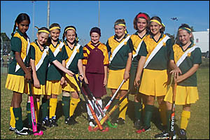DREAM TEAM: from left, Sally Gardiner (Maclean PS), Brooke O?Dell (South Graffton PS), Olivia Morrison (Grafton PS), Shona Perr