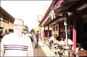 Andrew Drysdale, owner of Fresh Cafe Restaurant, which is fully compliant with council standards.