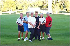 ALL CHAMPIONS: Grafton Golf Club champions, from left, C grade champion Margaret Hall, B grade Lyn Battaglini, A grade champion