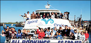About 40 American students enjoyed a two-day home-stay in Coffs Harbour and a whale watching trip they won?t forget in a hurry.